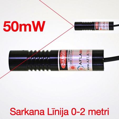 Lāzers Sarkana līnija 50mW Ø16mm