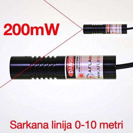 Lāzers Sarkana līnija 200mW Ø16mm
