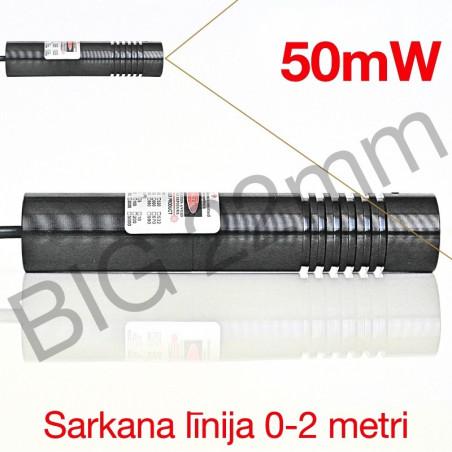 BIG Lāzers sarkana līnija 50mW Ø22mm
