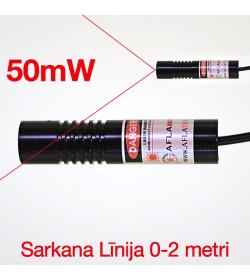 Lāzers Sarkana līnija 50mW