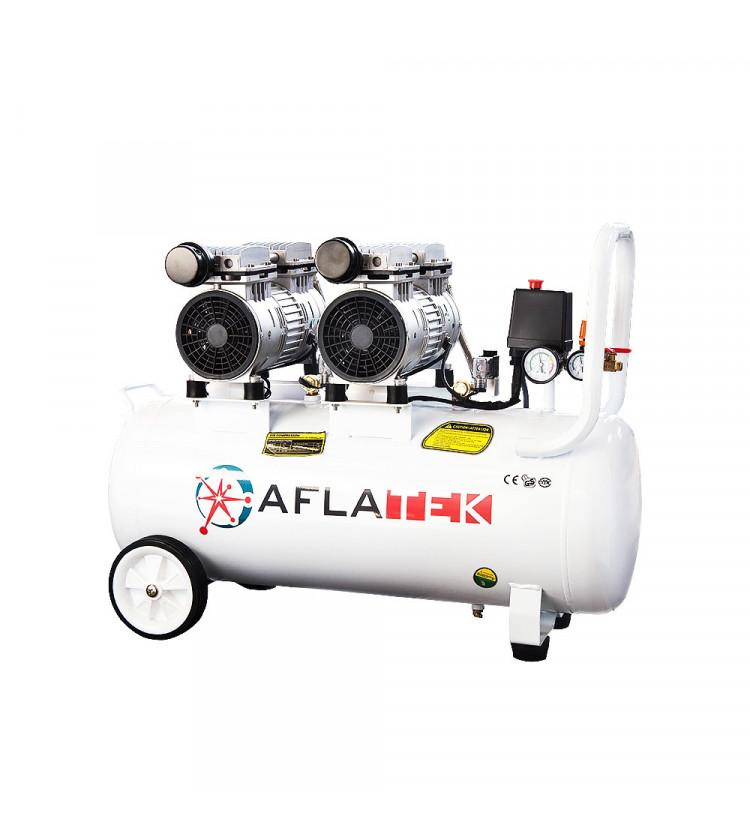 Kompresors AFLATEK Silent 50-2 bezeļļas