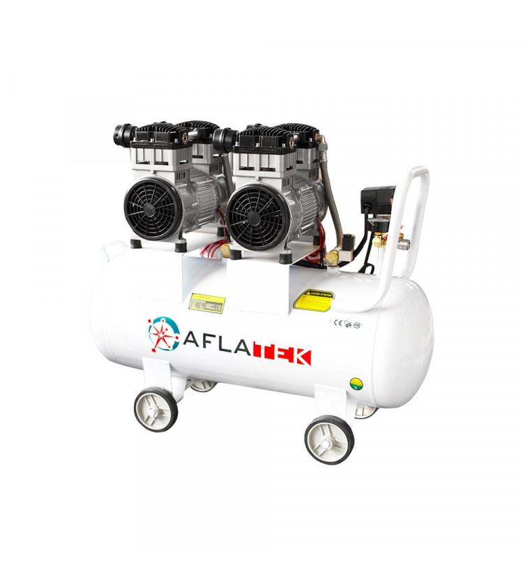 Kompresors AFLATEK SilentPro 80-2 bezeļļas