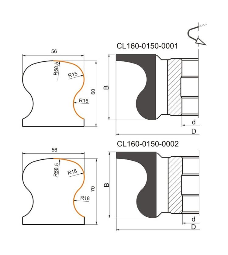 150x30x60z2 Profilfrēze Globus CL160